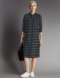 Striped Shirt Dress | M&S