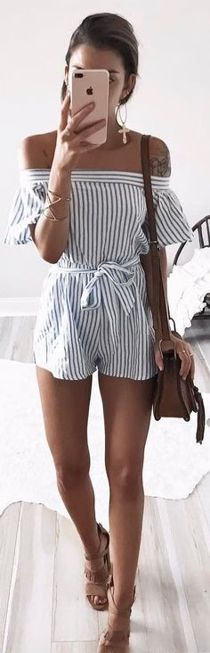 stripped summer outfit