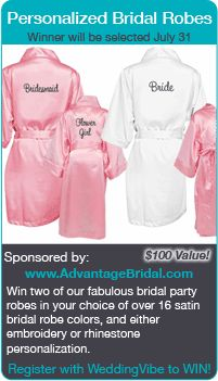 wedding contests - Win Bridal Robes in this wedding giveaway!