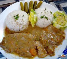 Bravčová krkovička na šťave s ryžou je hotový raj na tanieri. Skvelý rýchly recept na Bravčovú krkovičku vo vlastnej šťave s ryžou Slovak Recipes, Meat Recipes, Food 52, Family Meals, Grains, Paleo, Pork, Food And Drink, Menu