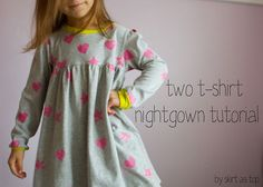 two t-shirt nightgown tutorial // skirt as top