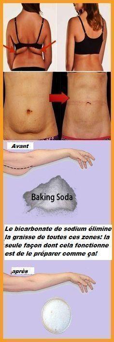 Le bicarbonate de sodium élimine la graisse de toutes ces zones: la seule façon dont cela fonctionne est de le préparer comme ça!