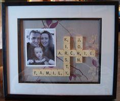 Scrabble collage....love this idea