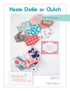 Hexie clutch free pattern