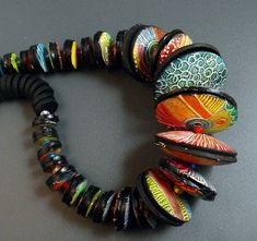 MargitB Discs Necklace / love all the patterns!