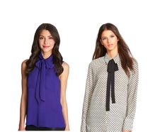 Neckties and bows are ladylike, but with a bit more edge. Find these tops at Express, Belk, or Nordstrom in Galleria Dallas! Fall Fashion | Fall 2015 Trends | Style