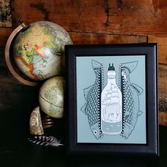Bottled Up print by Jeremy Fish available in-store and online. #ShopUP #UpperPlayground #JetemyFish
