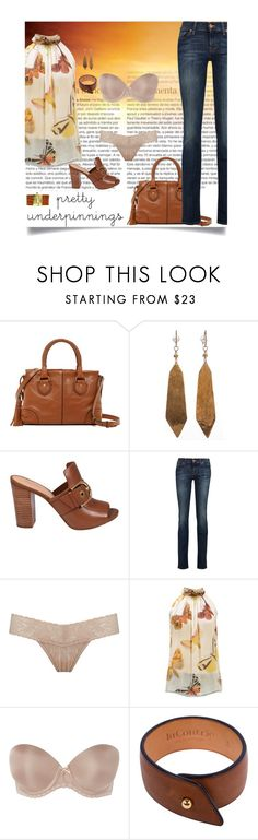 """""""Butterflies"""" by jax522 ❤ liked on Polyvore featuring Cole Haan, Michael Kors, 7 For All Mankind, Hanky Panky, Alexander McQueen, b.tempt'd by Wacoal, laContrie and Leighelena"""