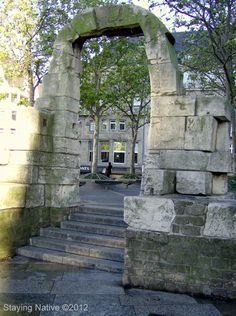 Roman #ruins in #Koln, #Germany - Side Portal of the Roman North Gate dating from 50 A.D.  #traveltuesday