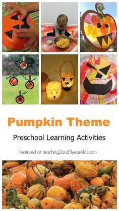 A huge list of activities for toddlers and preschoolers that are perfect for your pumpkin theme - from Teaching 2 and 3 Year Olds