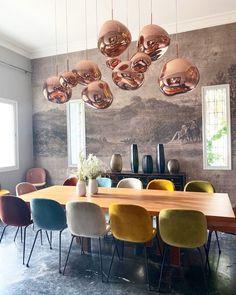 Dining Room Design, Dining Room Table, Interior Design Living Room, Dining Chairs, Interior Decorating, Dining Room Inspiration, Home Decor Inspiration, Inspiration Design, Sweet Home