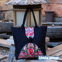 Hand-Made-Bag / Stickerei Beutel/Casual von littlePurser auf Etsy