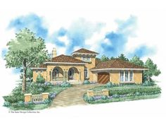 Eplans Mediterranean House Plan - Exquisite Mediterranean Villa - 2191 Square Feet and 3 Bedrooms from Eplans - House Plan Code HWEPL08719