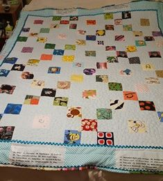 """An """"I Spy"""" quilt, with lots of fun images for the little one to find! I Spy Quilt, Quilts, Blanket, Pattern, Fun, Design, Home Decor, Decoration Home, Room Decor"""