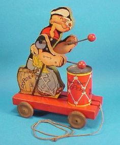 1937 Fisher Price Boom-Boom Popeye Toy