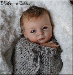 """PROTOTYPE """"Lindea"""" ❀Bluebonnet Babies❀ REBORN NEWBORN Baby Doll~Gudrun Legler #RebornbyBluebonnetBabies"""