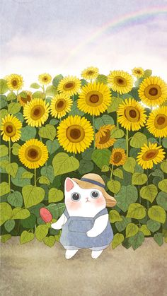 Trendy Ideas For Cats Watercolor Illustration Kitty Cute Cat Wallpaper, Kawaii Wallpaper, Cute Illustration, Watercolor Illustration, Cartoon Drawings, Easy Drawings, Watercolor Cat, Kawaii Art, Cat Drawing