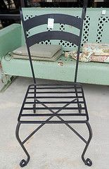 Black Wrought Iron Outdoor Chair