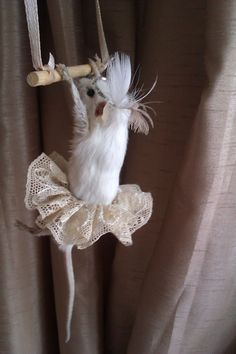 taxidermy circus trapeze mouse. My first attempt at taxidermy. Thanks to Shannon Harman at The Last Tuesday Society.