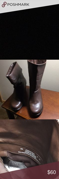 Dansko Booties 2 3/4 inch heal. Brown. Look great with skinny jeans and leggings. Classy/dress look. Comfortable and gently worn. Wear folded or up. Dansko classic comfort and wearability. Dansko Shoes Heeled Boots
