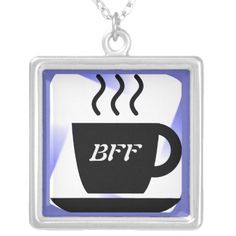 Do you have a friend you always meet for coffee? Celebrate your friendship with this unique coffee cup BFF best friends forever pendant. A wonderful gift for a gal pal at any age.