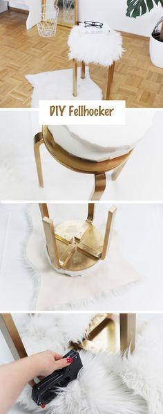 Günstige Möbel selber bauen: DIY-Fellhocker – Bonny und Kleid