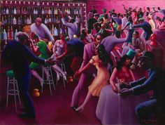 Chicago painter Archibald Motley represented the vibrancy of African American culture, frequently portraying young, city dwellers out on the town. Nightlife depicts a crowded cabaret in Bronzeville. African American Art, American Artists, Archibald Motley, Harlem Renaissance Artists, American Literature, Black Artists, Art Institute Of Chicago, Art Google, Twitter