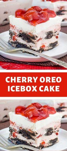 Cool Whip Desserts, Ice Cream Desserts, Frozen Desserts, Easy Desserts, Oreo Icebox Cake, Pie Dessert, Dessert Recipes, Levain Bakery, Cupcake Cakes