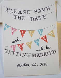 aww what a sweet save the date for a more casual wedding! @Chantel Waterbury Waterbury Jacobson