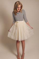 Harper Cream Tulle Skirt - Morning Lavender