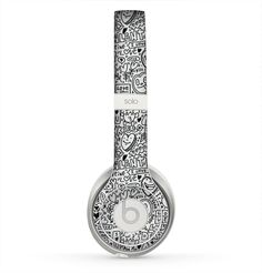 The Black and White Valentine Sketch Pattern Skin for the Beats by Dre Solo 2…