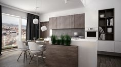 kitchen modern wood