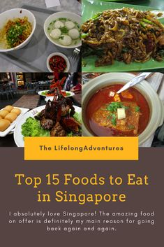 I absolutely love Singapore, especially the food! This is a list of my all time favourite must eats. Enjoy!