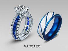 Zeta Phi Beta Sigma- slight overkill but it IS gorgeous. Blue Wedding Rings, Wedding Sets, Wedding Bands, Dress Wedding, Unique Rings, Beautiful Rings, Phi Beta Sigma, Dream Ring, Opal Rings