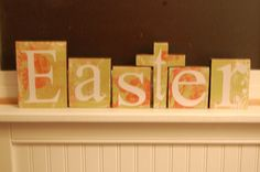 Double sided Easter/Faith blocks! Decoupaged to your desired color scheme. $22.99. www.kristinakreat...