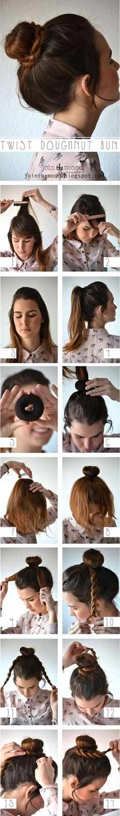 How To Make Twist Doughnut Bun For Your Hair | Shes Beautiful