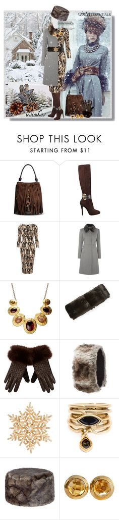 """Winter Wardrobe Staples"" by googie-googie ❤ liked on Polyvore featuring Burberry, GUESS, Pied a Terre, Style & Co., River Island, Charlotte Russe, Susan Caplan Vintage, Eddie Borgo, DUBARRY and Pomellato"