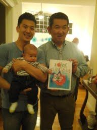 The Rose And The Butterfly meet three Kims-John, Andy, and little Titus!