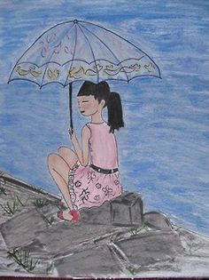Chinitas con paraguas III
