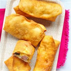 Pigs in a Poncho Recipe -For pigs in a blanket Mexican style, we add refried beans and green chilies. Spice it up even more with pepper jack, jalapenos and guacamole. —Jennifer Stowell, Montezuma, Iowa