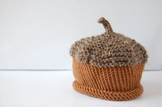 ACORN hat  Baby knit hat  newborn autumn by LilHipsters on Etsy, $16.00