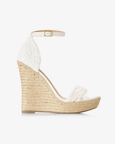 Espadrilles come into the now with fresh faux suede and a height-enhancing platform wedge heel. This chic, ankle-strapped sandal is destined for some outdoor wedding dates with your flares and maxis.