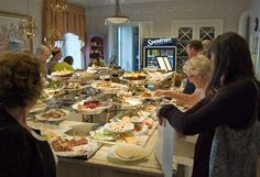 Taxinge Slott Café in Nykvarn, Sweden; CAKE BUFFET   25 Bakeries Around The World You Have To See Before You Die