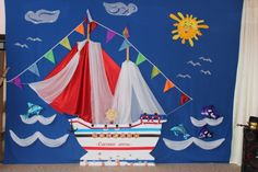 Оформление зала к выпускному. Кораблик «Счастливое детство» - Для воспитателей детских садов - Маам.ру