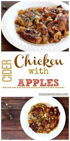Chicken with Cider and Apples #fallfest #Foodnetwork #apples #Applecider