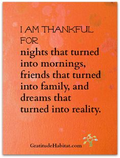 Thankful and Happy