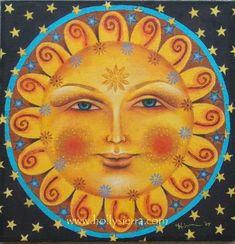 art lessons pattern sun and moons Sun Moon Stars, My Sun And Stars, Arte Latina, Moon Symbols, Good Day Sunshine, Sun Designs, Acrylic Artwork, Sun Art, Mexican Folk Art