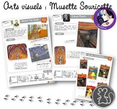 Parcours en histoire de l'art : Musette Souricette Art History Memes, History Projects, World History, Art Lessons For Kids, Art For Kids, Le Cri Munch, Famous Artists, Oeuvre D'art, Art School