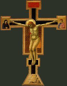 Santa Maria Novella Church   and cloisters  Florence, Italy  Giotto    Crucifix  1290 c.