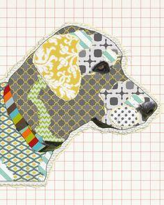 #DIY My Labrador Jack :) Inspired by Michel Keck's Modern Dog Art.